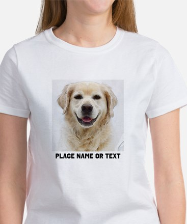 Dog Photo Customized Women's Classic White T-Shirt