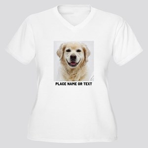 Dog Photo Customi Women's Plus Size V-Neck T-Shirt