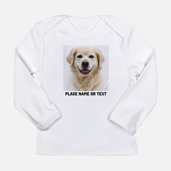 Dog Photo Customized Long Sleeve Infant T-Shirt