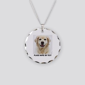 Dog Photo Customized Necklace Circle Charm