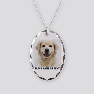 Dog Photo Customized Necklace Oval Charm
