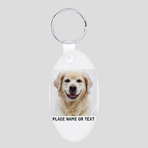 Dog Photo Customized Aluminum Oval Keychain