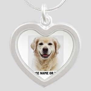 Dog Photo Customized Silver Heart Necklace