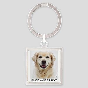 Dog Photo Customized Square Keychain