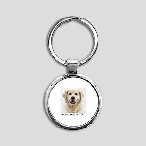 Dog Photo Customized Round Keychain