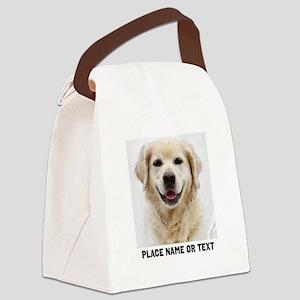 Dog Photo Customized Canvas Lunch Bag
