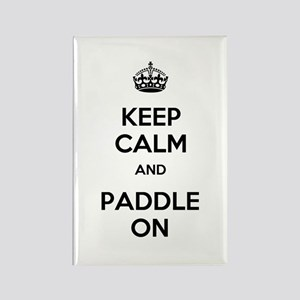 Keep Calm and Paddle On Rectangle Magnet