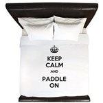 Keep Calm and Paddle On King Duvet