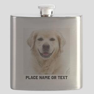 Dog Photo Customized Flask