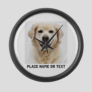 Dog Photo Customized Large Wall Clock