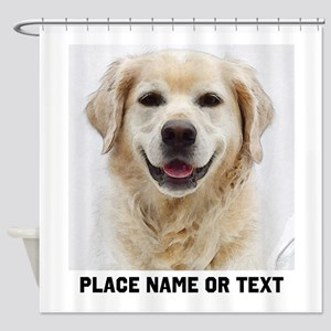 Dog Photo Customized Shower Curtain