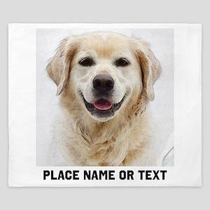 Dog Photo Customized King Duvet