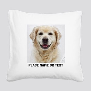 Dog Photo Customized Square Canvas Pillow