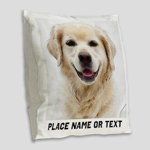 Dog Photo Customized Burlap Throw Pillow