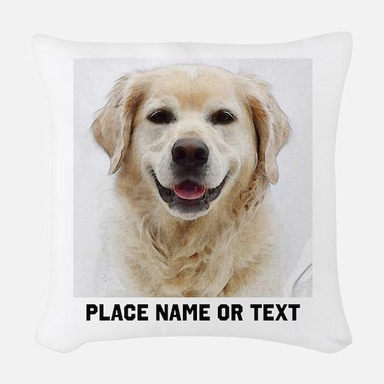 Dog Photo Customized Woven Throw Pillow