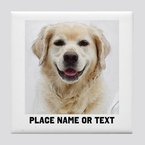 Dog Photo Customized Tile Coaster