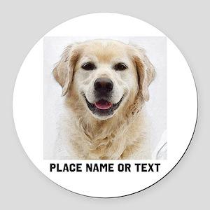 Dog Photo Customized Round Car Magnet