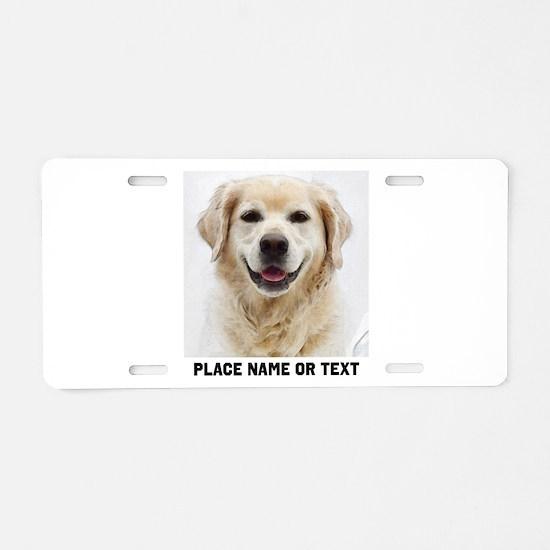 Dog Photo Customized Aluminum License Plate