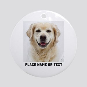 Dog Photo Customized Round Ornament