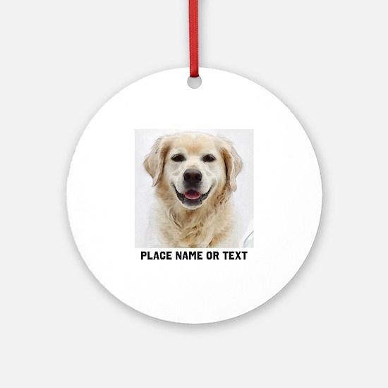 Dog Photo Customized Round Ornament