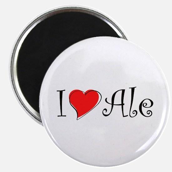 I Love Ale Magnet