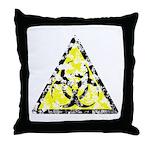 Vintage Bio-Hazard 4 Throw Pillow