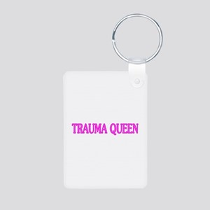 Trauma Queen Aluminum Photo Keychain