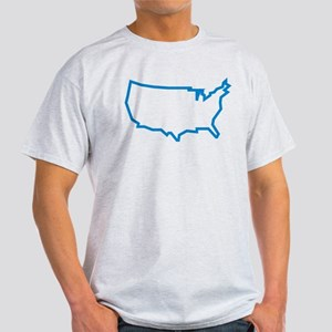 usa map Light T-Shirt