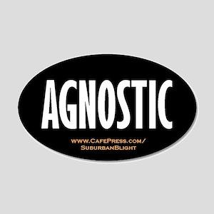 """Agnostic"" 22x14 Oval Wall Peel"