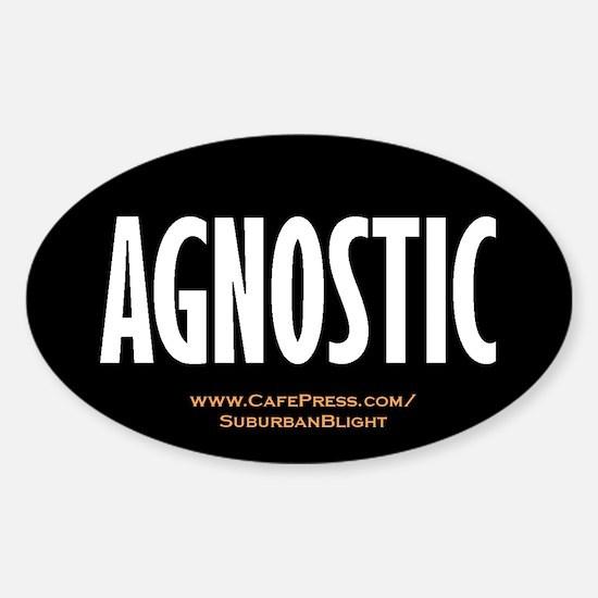 """Agnostic"" Sticker (Oval)"