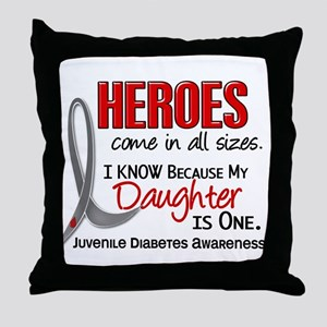 Heroes All Sizes Juv Diabetes Throw Pillow