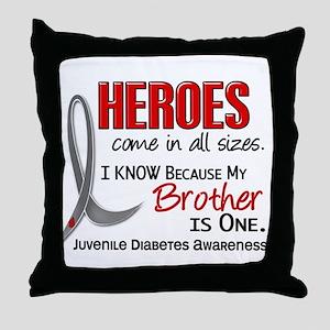 Heroes All Sizes Juv Diabetes Throw Pillow