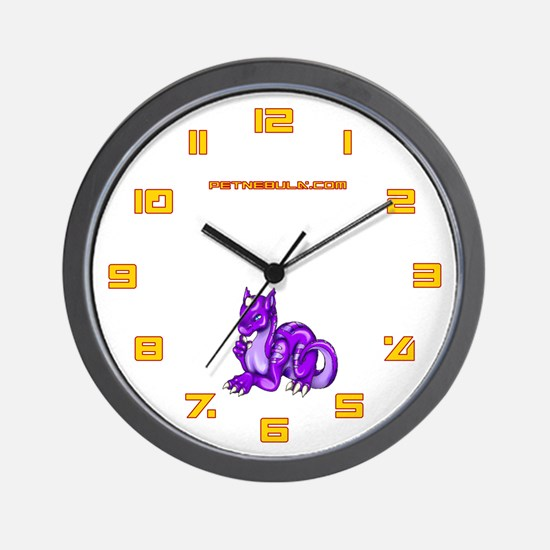 Purple Dragold Wall Clock