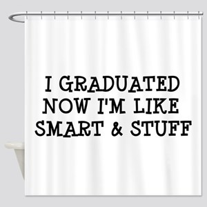 Smart & Stuff Grad Shower Curtain