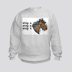 3 Steps Design Kids Sweatshirt