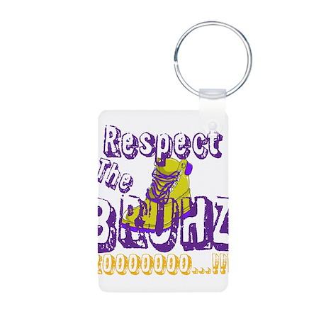 Respect the Bruhz Aluminum Photo Keychain