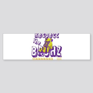 Respect the Bruhz Sticker (Bumper)