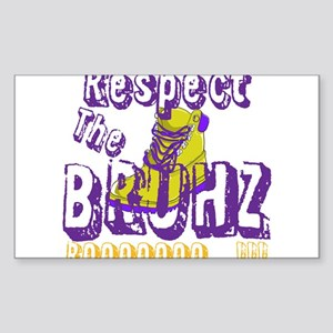 Respect the Bruhz Sticker (Rectangle)