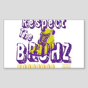 Respect the Bruhz Sticker (Rectangle)