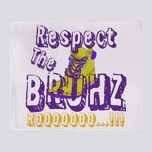Respect the Bruhz Throw Blanket