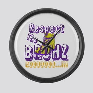 Respect the Bruhz Large Wall Clock