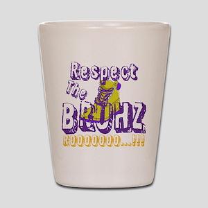 Respect the Bruhz Shot Glass