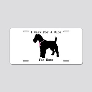 Fox Terrier Personalizable I Bark For A Cure Alumi