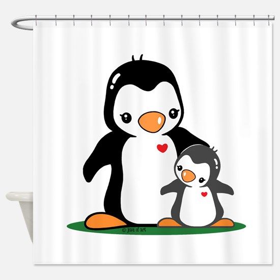 Mom & Baby Shower Curtain