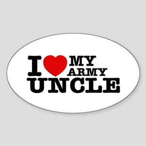 I love My Army Uncle Sticker (Oval)
