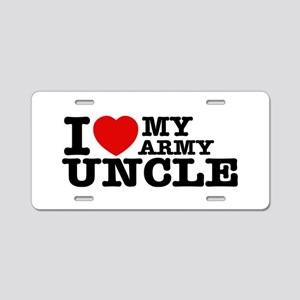 I love My Army Uncle Aluminum License Plate