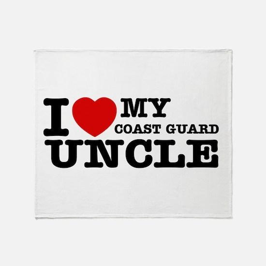 I love My Coast Guard Uncle Throw Blanket