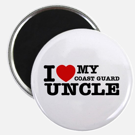 """I love My Coast Guard Uncle 2.25"""" Magnet (100 pack"""