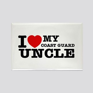 I love My Coast Guard Uncle Rectangle Magnet