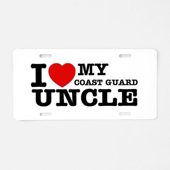 I love My Coast Guard Uncle Aluminum License Plate